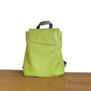 תיק גב ללימודים דמוי עור צבע ירוק