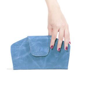 ארנקי עור צבע כחול מעור לנשים, ארנק מעוצב