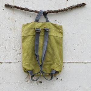 תיק גב דמוי עור בצבע ירוק תהל שדות