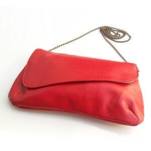 תיק קטן לערב עשוי דמוי עור אדום משגע