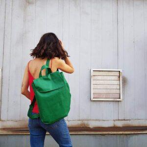 תרמיל גב ירוק משגע דמוי עור במבחר צבעים