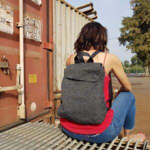 תיקי גב מעוצבים דמוי עור לנשים