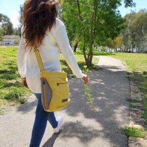 תיקים אופנתיים - צבע צהוב