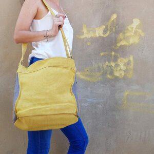 תיקי צד גדול לנשים בצהוב