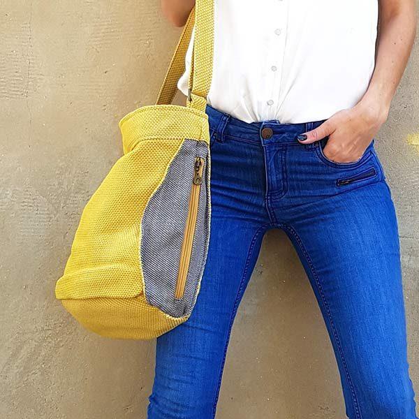 תיק צהוב מדליק לנשים