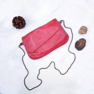 תיק צד אדום לנשים