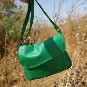 תיק צד ירוק טבעוני קל ונוח