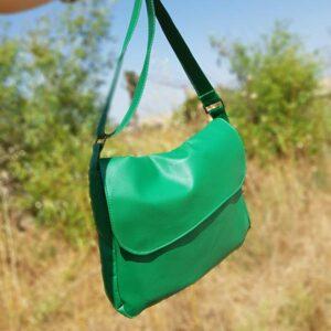 תיק צד דמוי עור ירוק