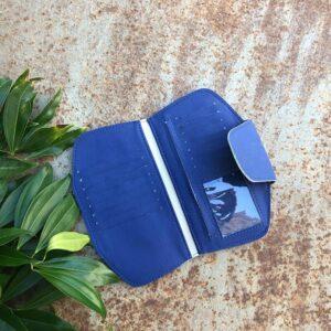 ארנק טבעוני לנשים צבע כחול