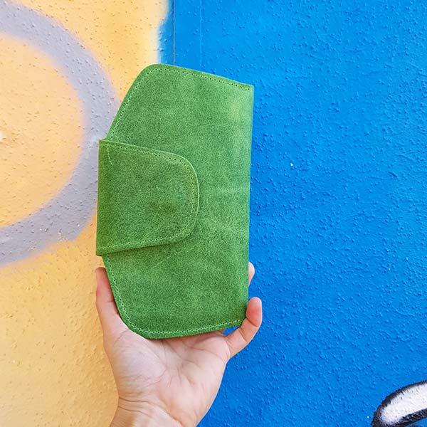 ארנקי עור לנשים ירוק