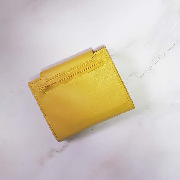 ארנק דמוי עור צהוב