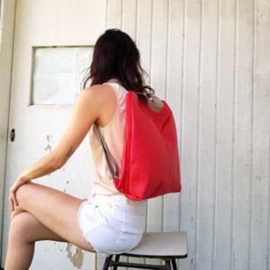 תיק מחשב לנשים עשוי בד