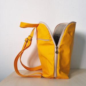 תיק צהוב לגב לנשים ונערות